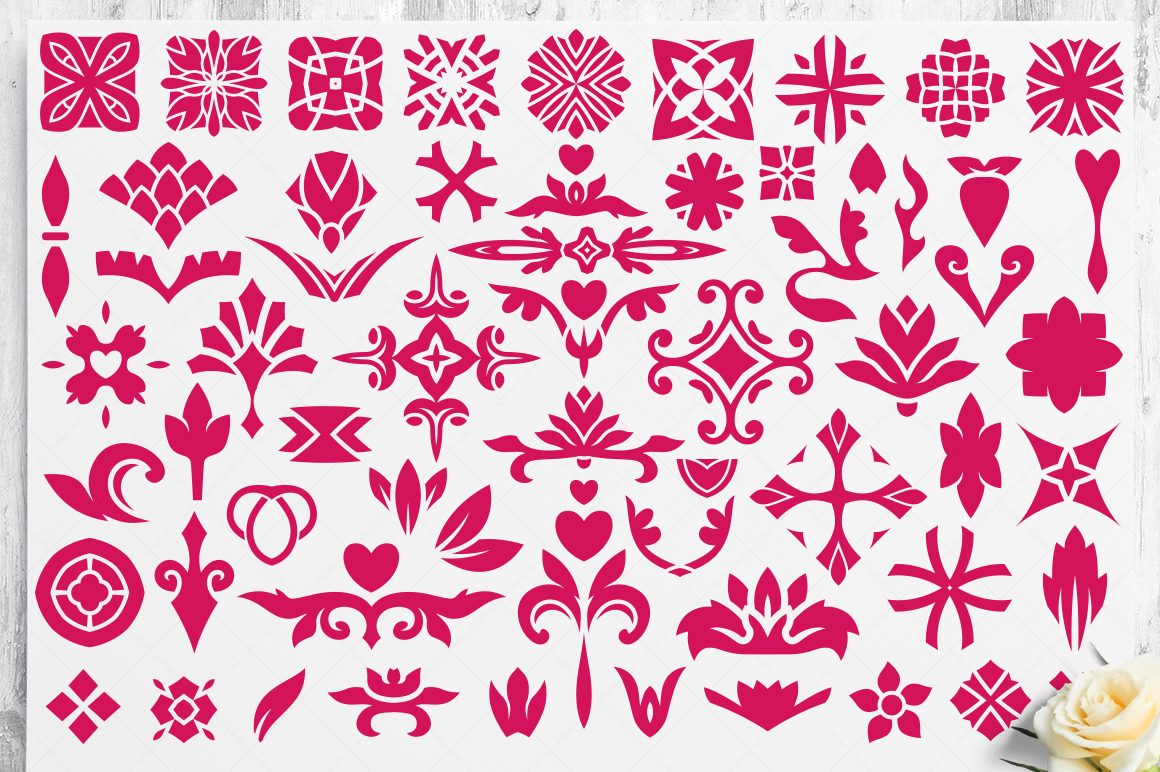 100 Heart Vector Ornaments and Seamless Patterns example image 23