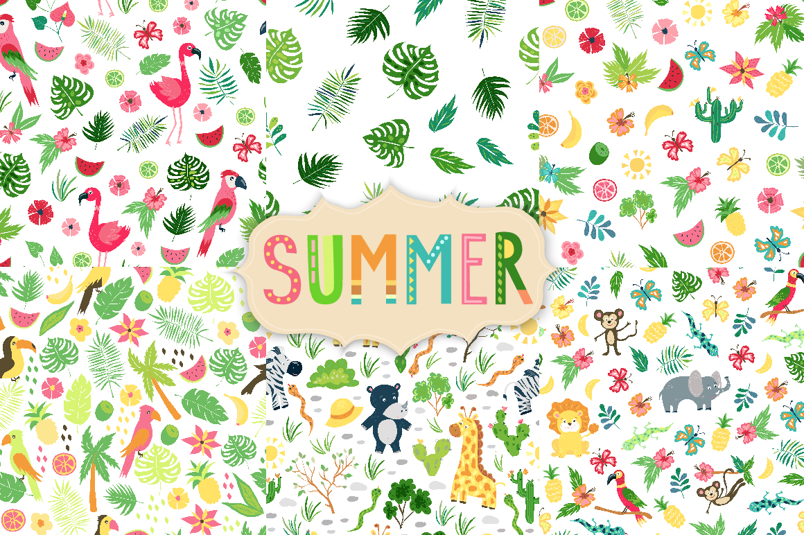 Summer Tropical Cute Vector Pack example image 4