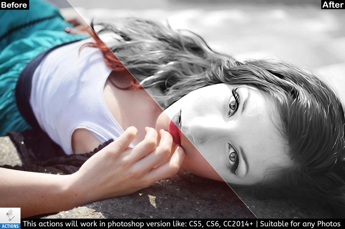 Black & White Photo Painting Effect example image 5