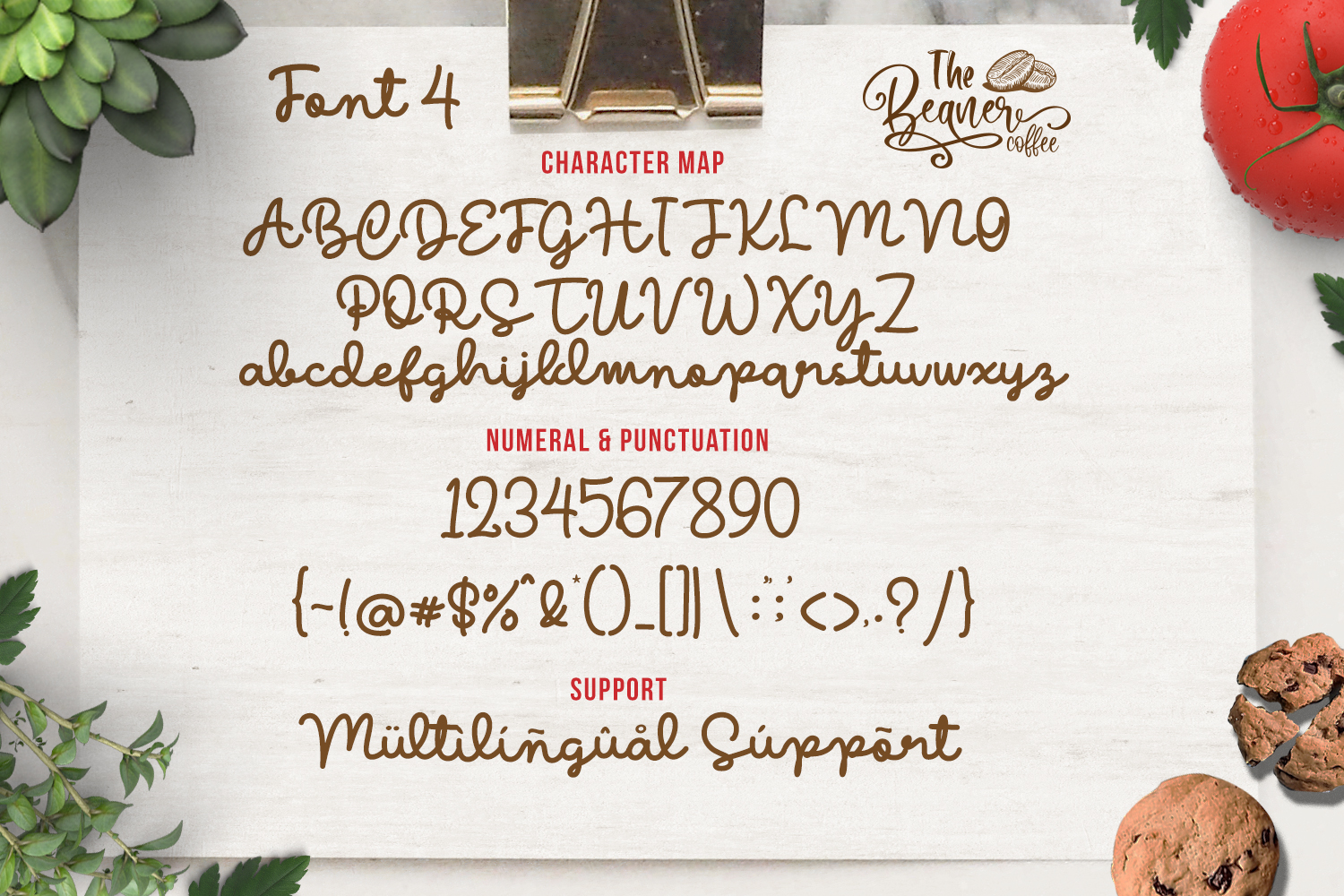 The Beaner - 5 Font & 41 Clipart example image 18