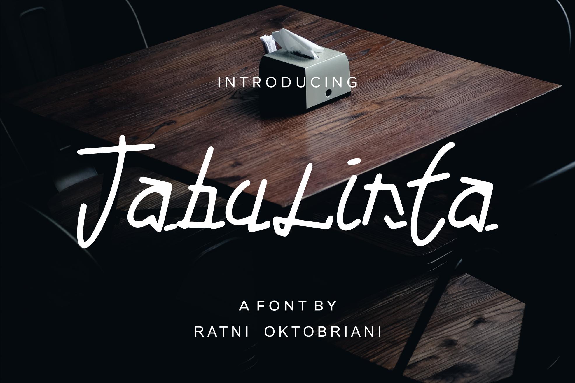 Tabulinta - A Uniquel Font example image 1