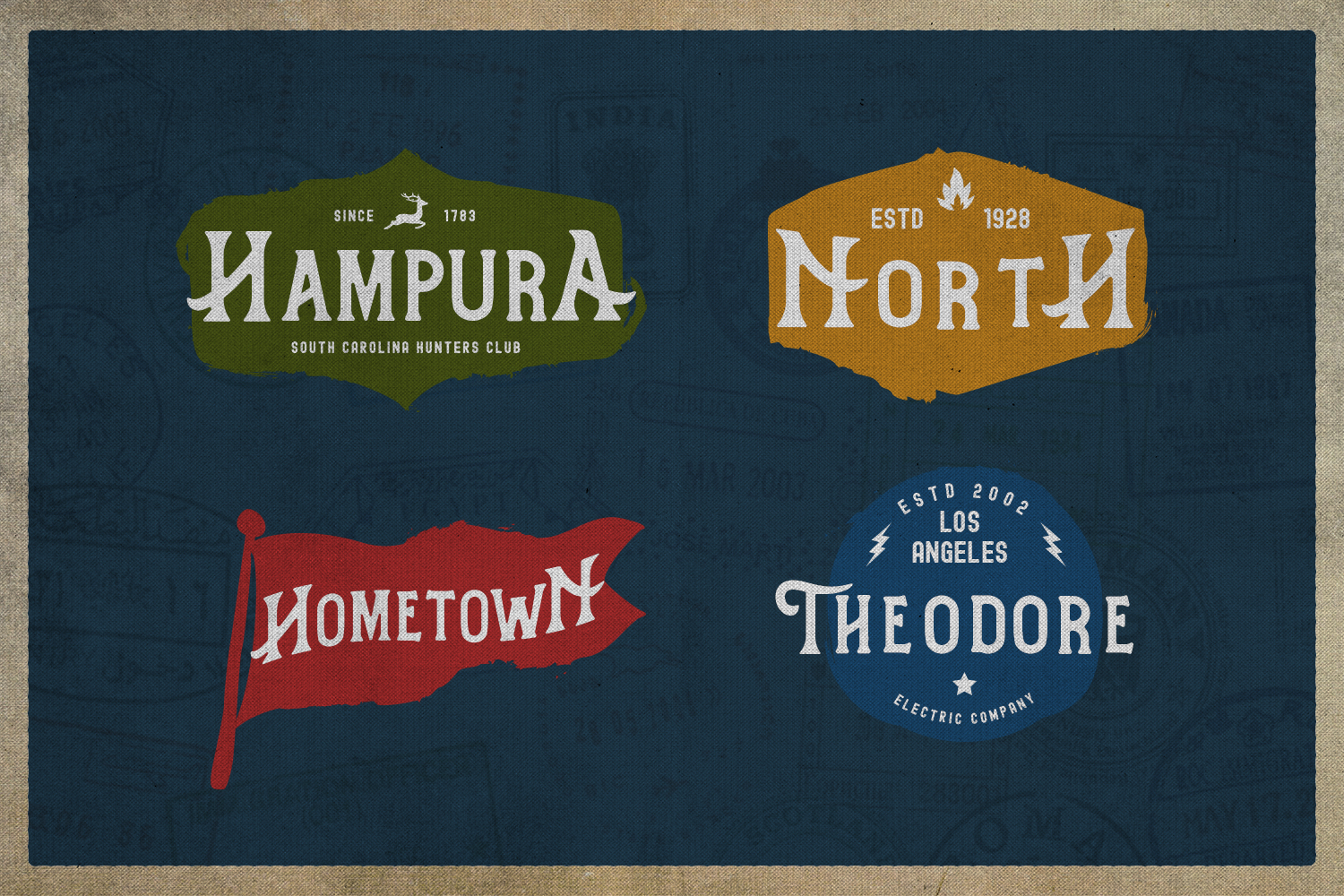 Hometown Vintage Typeface example image 5