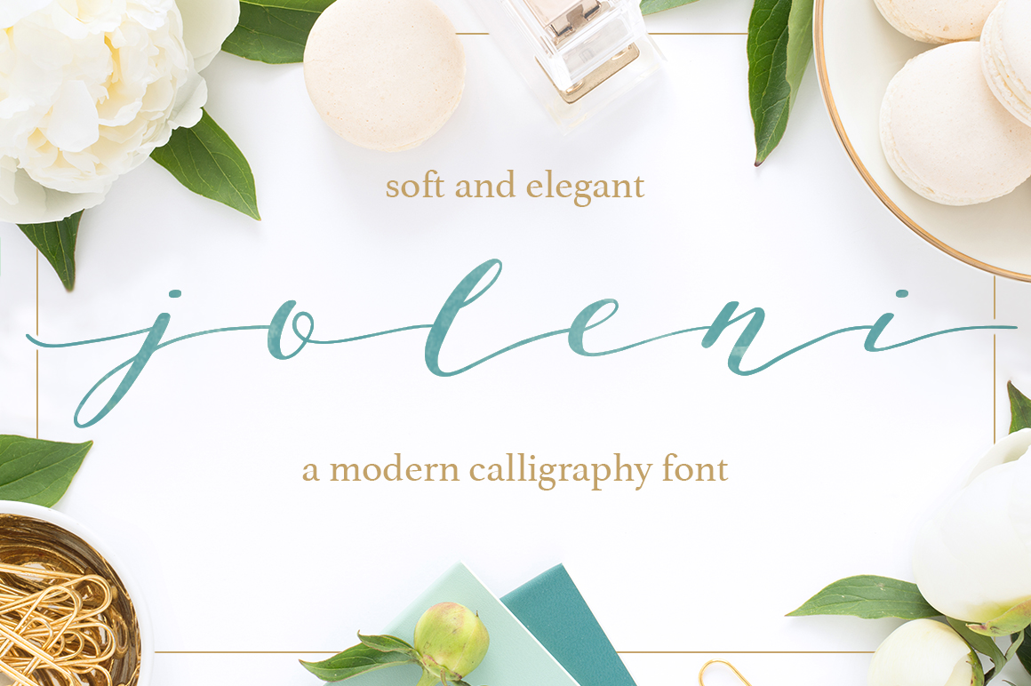 Joleni Font - modern elegant calligraphy example image 1