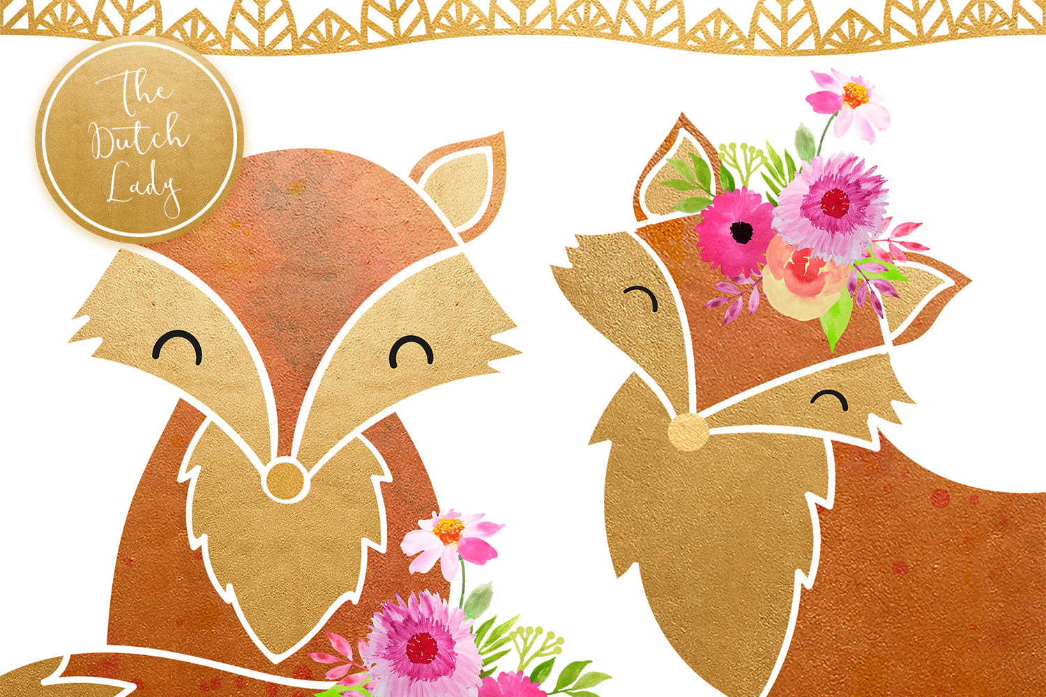 Fox & Forest Clipart Set example image 3