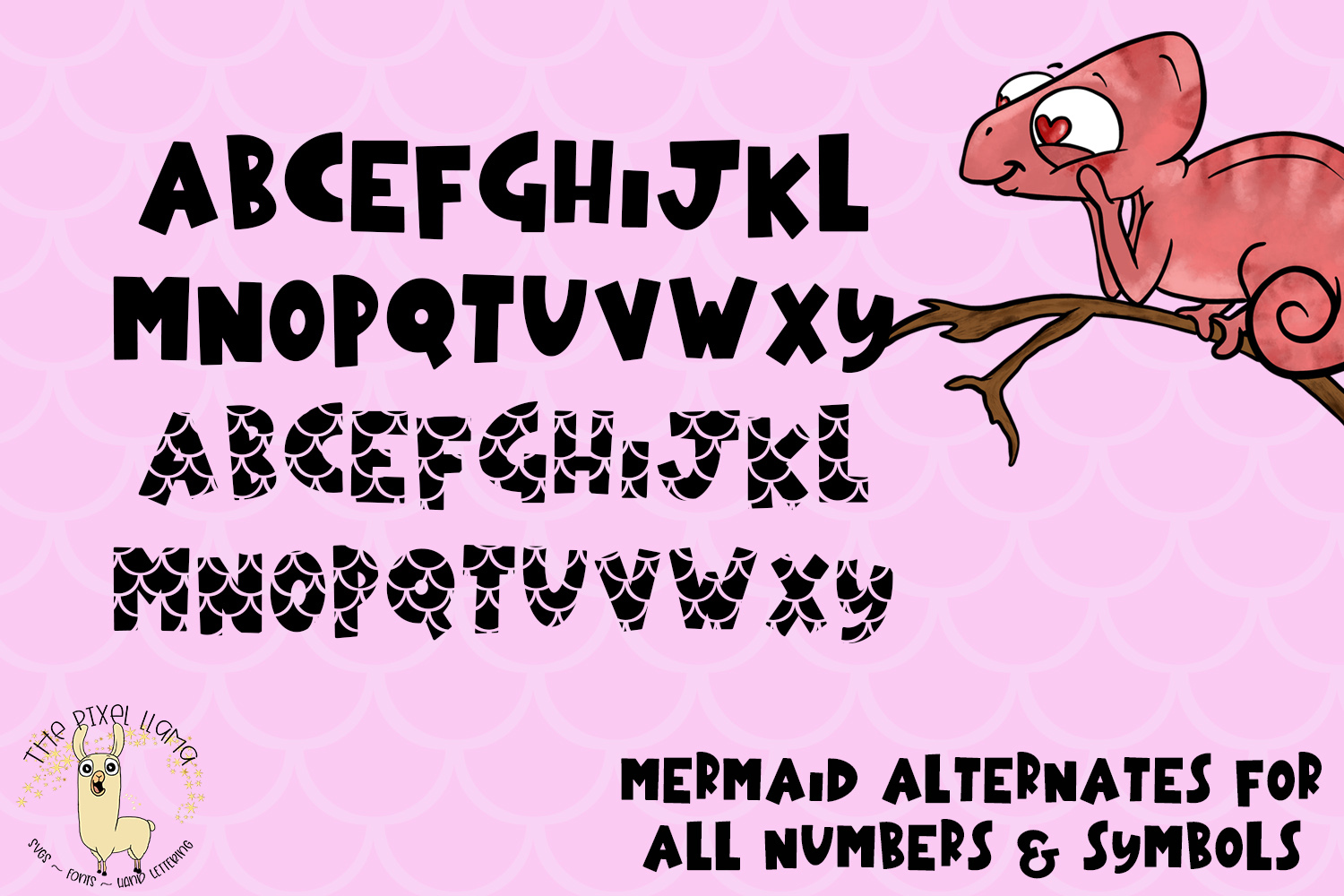Mermaid Chameleon A Block Font With Mermaid example image 2