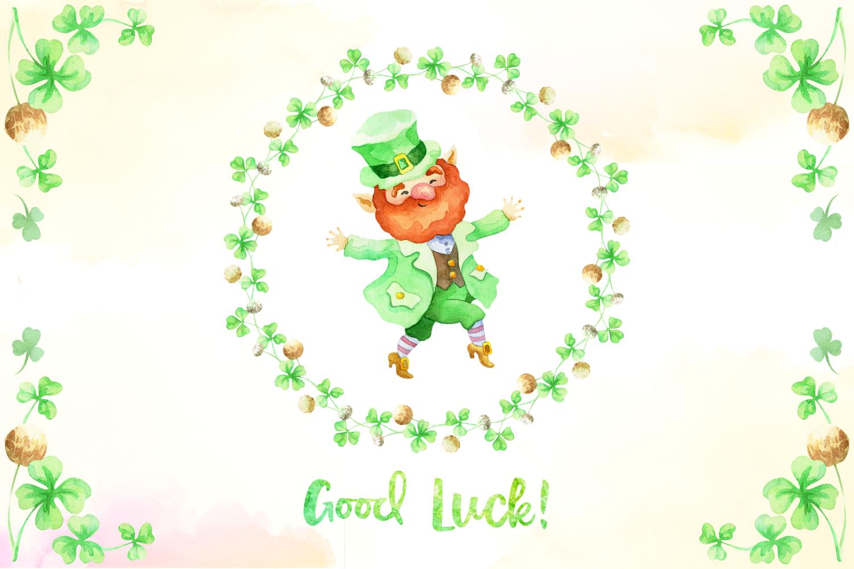 Leprechauns. Patrick's Day watercolor set example image 5