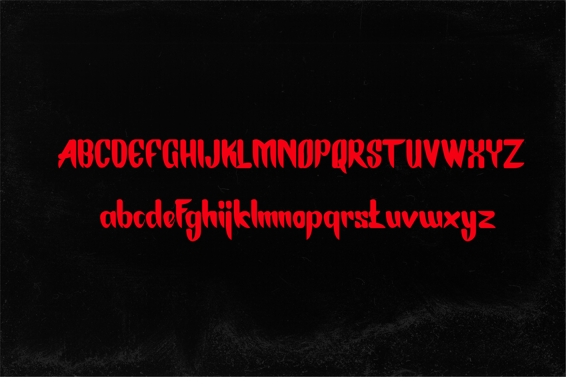 Ghesur - Modern Gothic Horror Serif Sports Typeface example image 4
