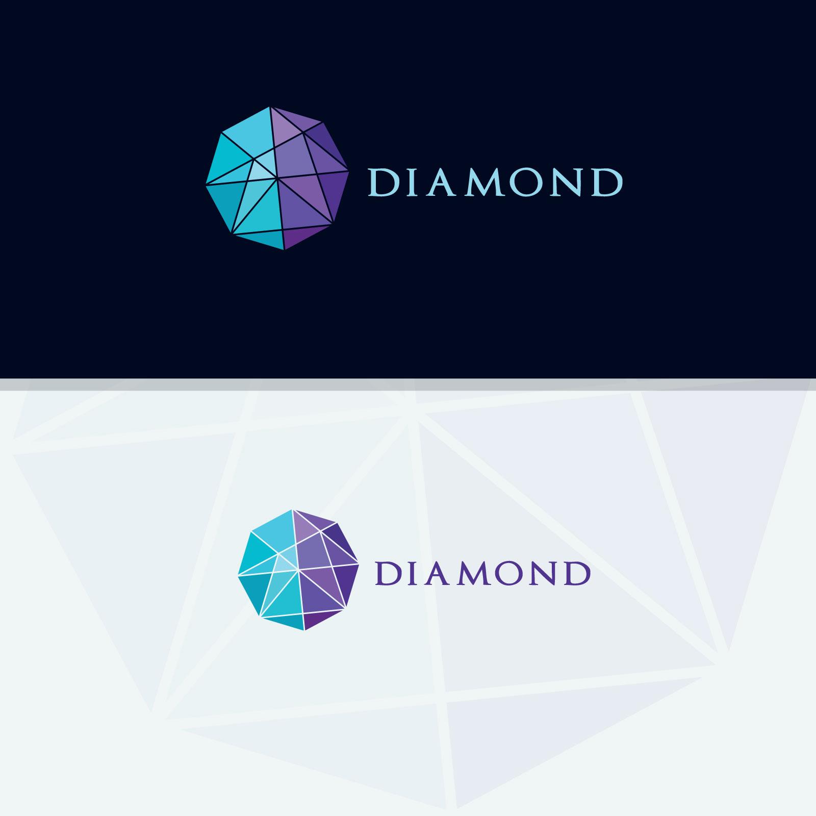 Diamond vector logos collection example image 4