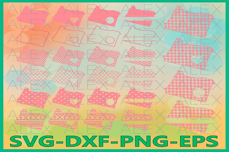 Oregon State SVG, Oregon Monogram SVG files, Oregon Svg example image 1