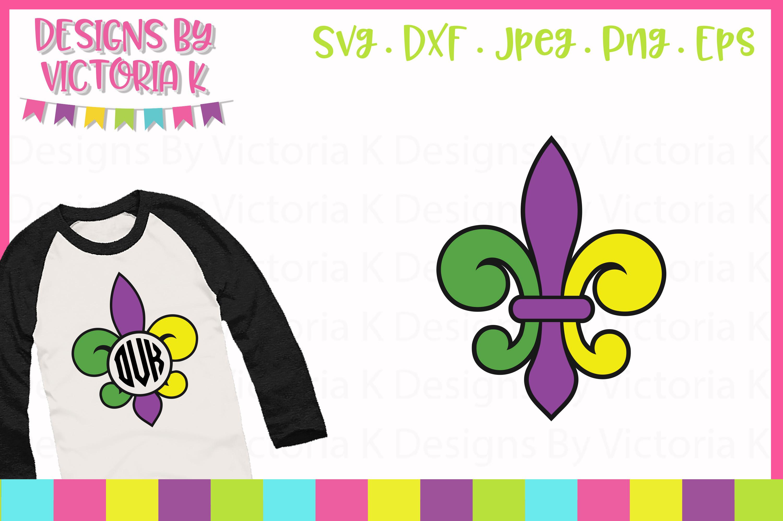 Mardi Gras, fleur de lis SVG, SVG, DXF, PNG example image 1