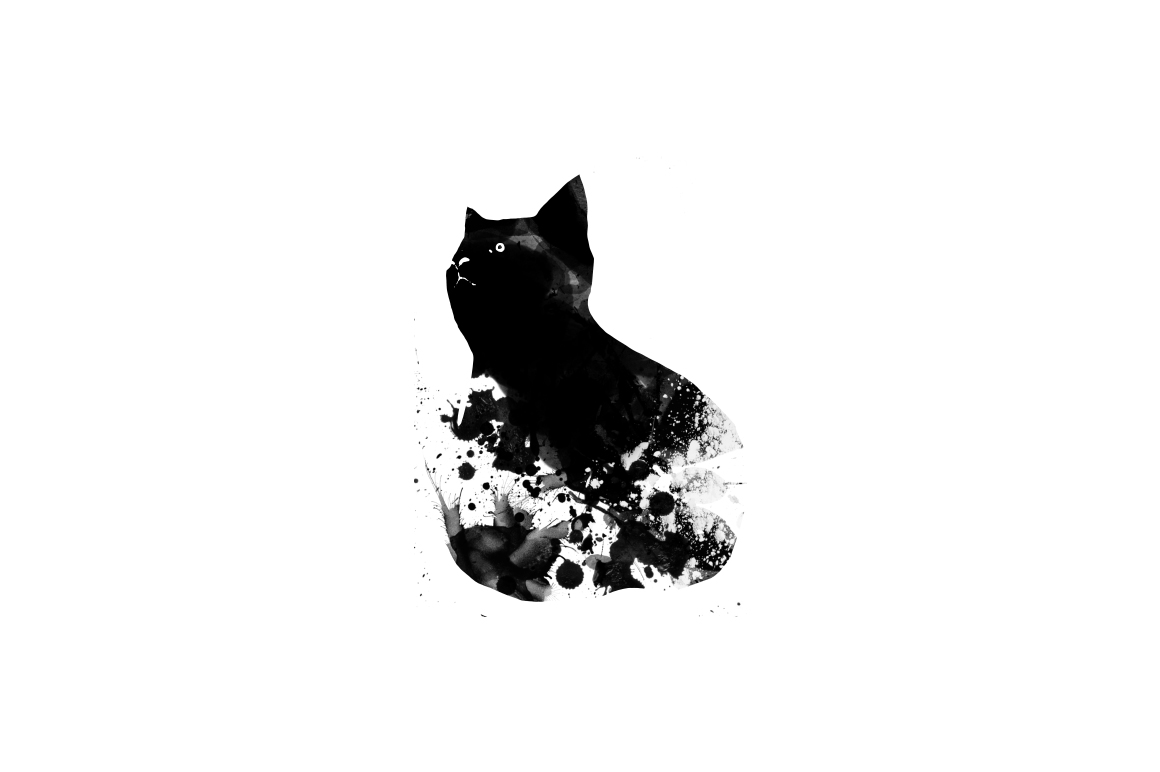 20 Illustration abstract Cats example image 3