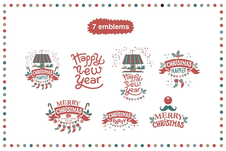 Christmas market. Graphic set example image 3