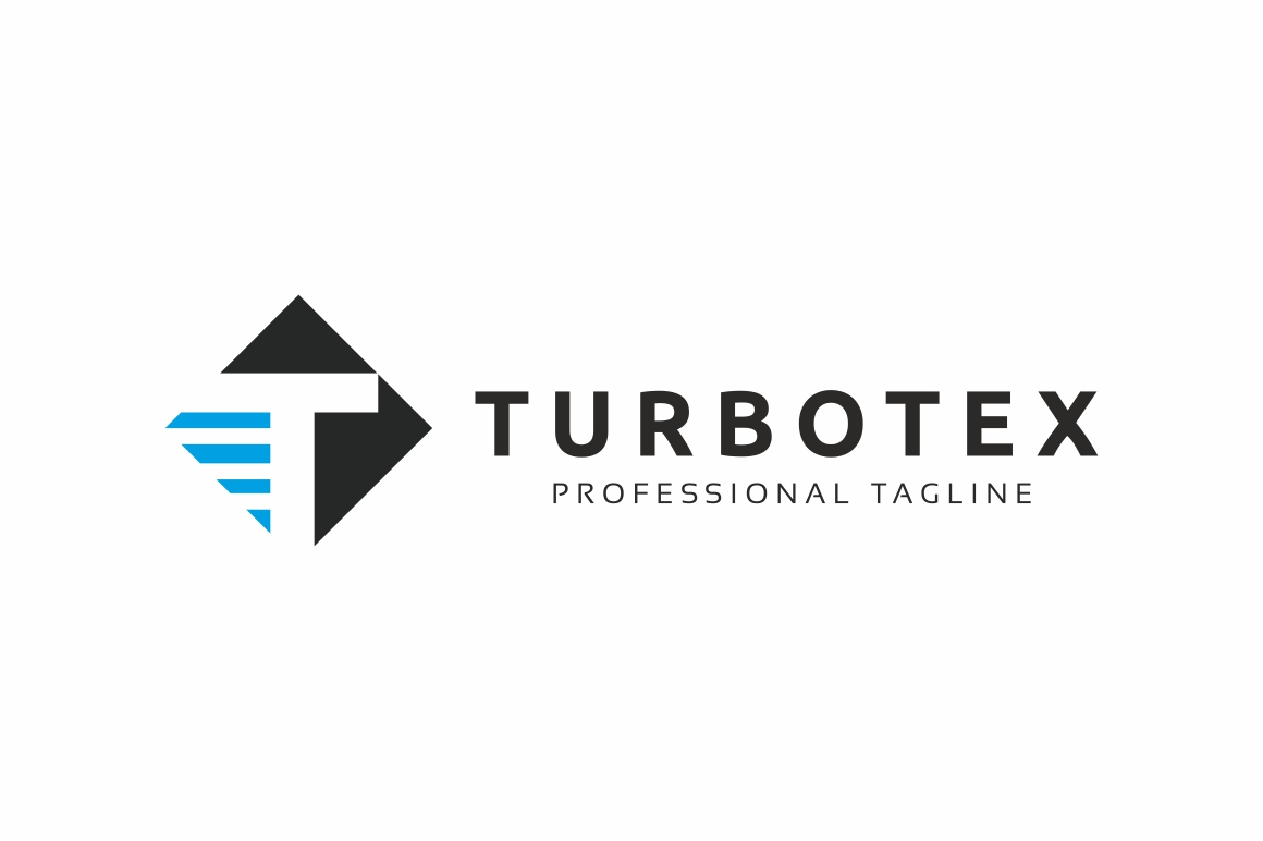 Turbotex T Letter Logo example image 3