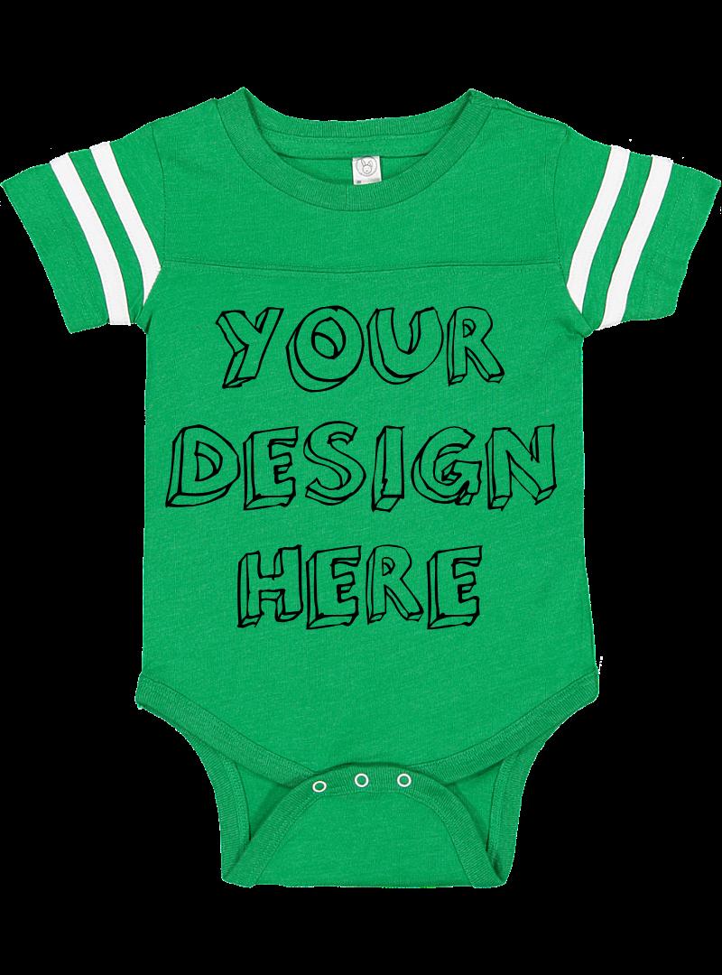 Infant Football Bodysuit Mockups - 12 |PNG|Front/Back - V1 example image 8