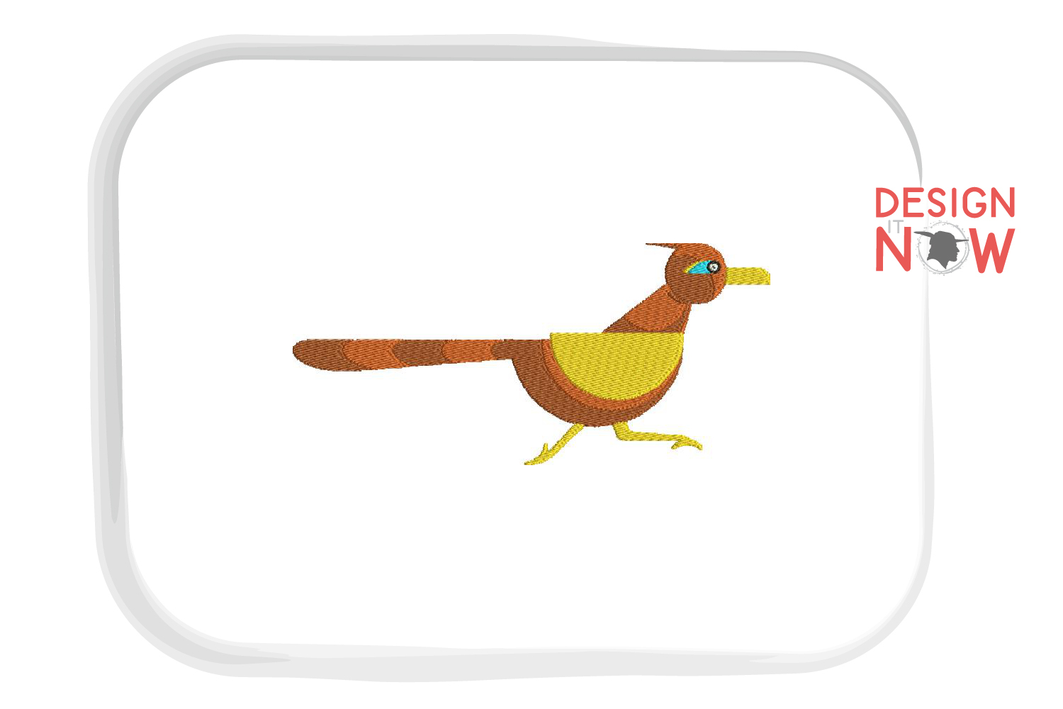 Bird Polygon Embroidery Design, Animals Embroidery Pattern example image 1