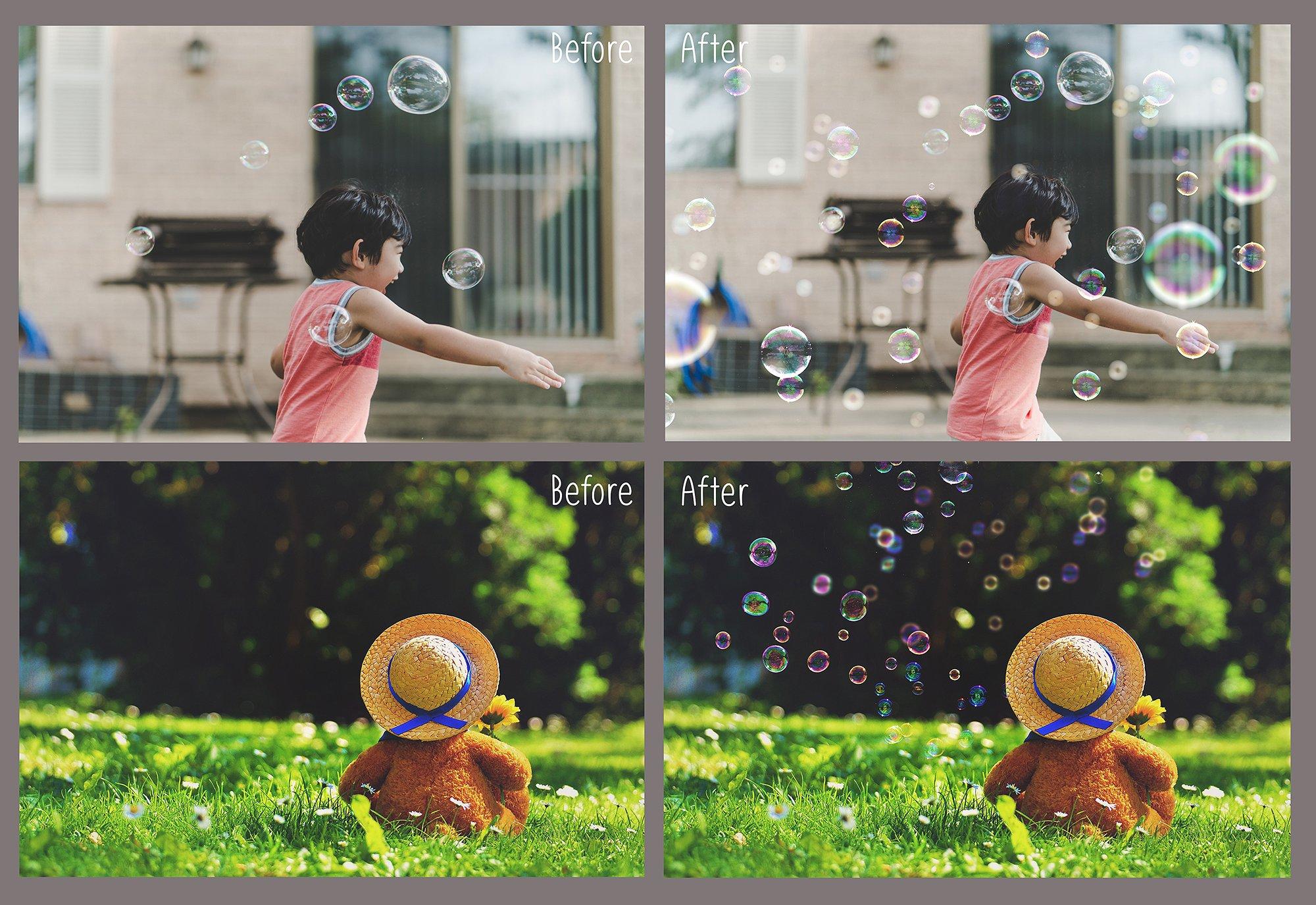 100 Bubbles Photoshop Overlays example image 2