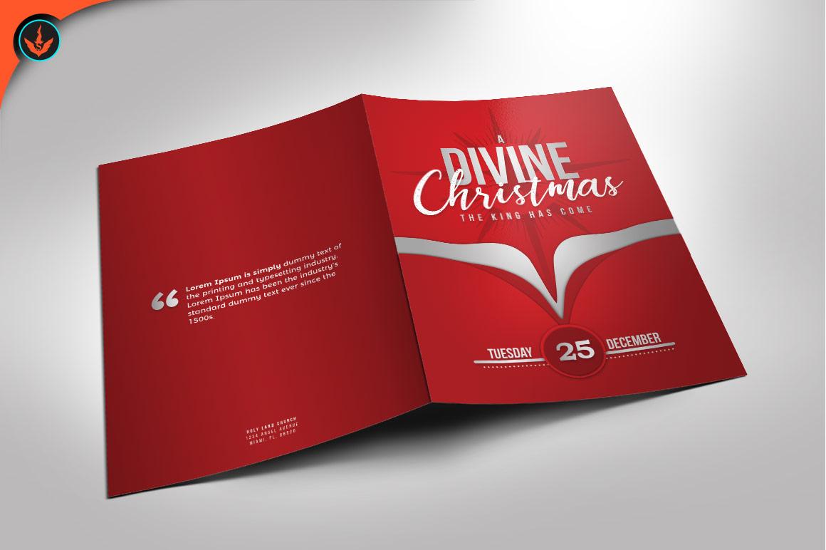 A Divine Christmas Program Photoshop Template example image 1