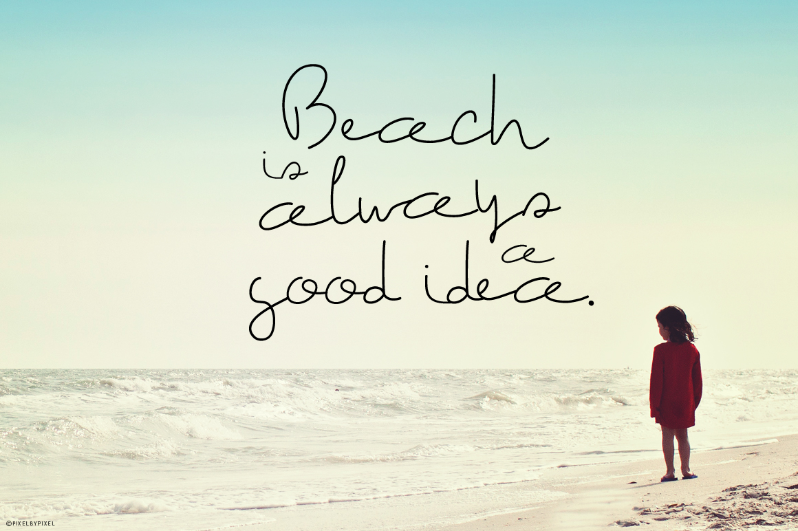 The Beach Font example image 3