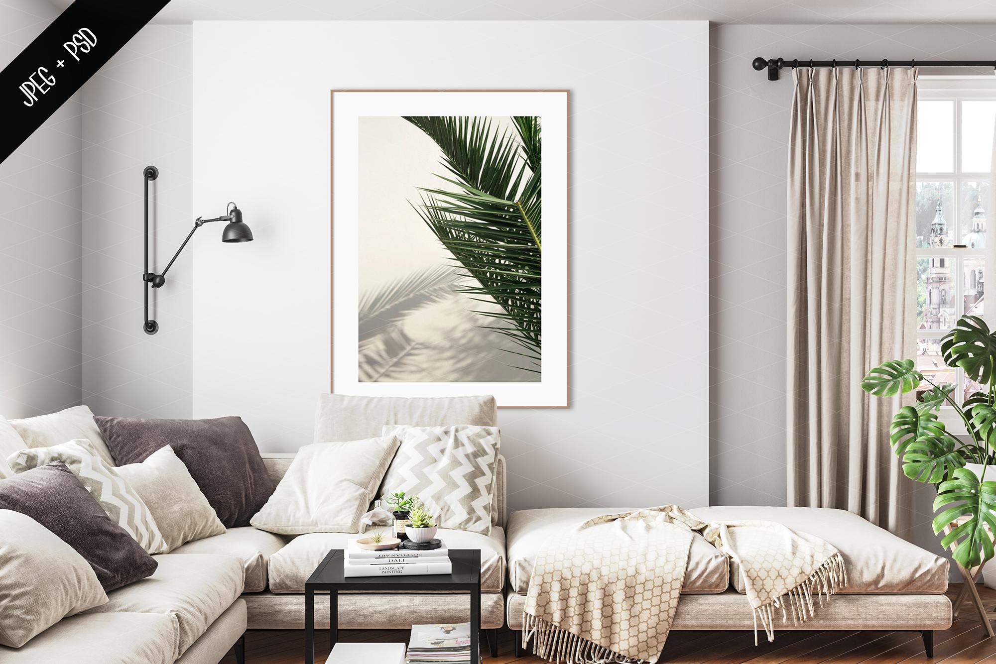 Interior mockup BUNDLE - frame & wall mockup creator example image 14