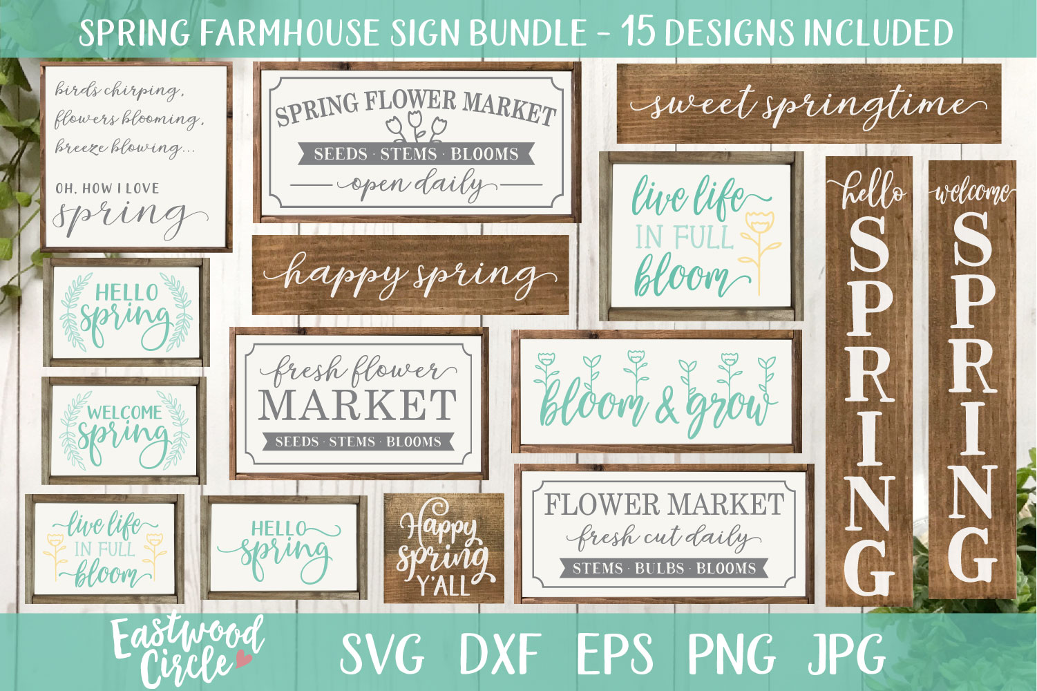 Spring SVG Bundle - Cut Files for Signs example image 1