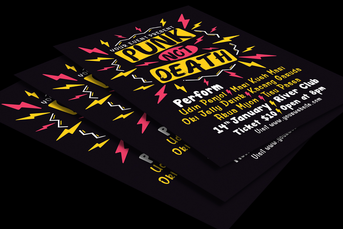 Punk Music Event Flyer example image 2