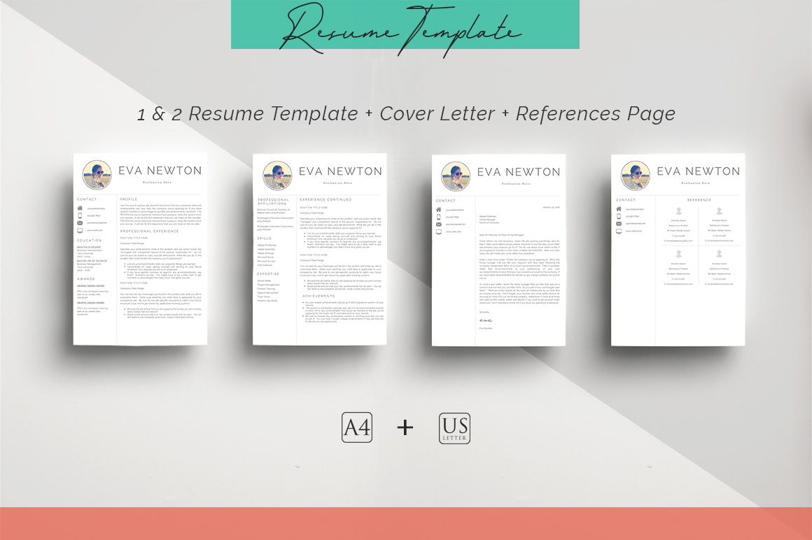 ULTIMATE BUNDLE Resume Template 10 in 1 example image 6
