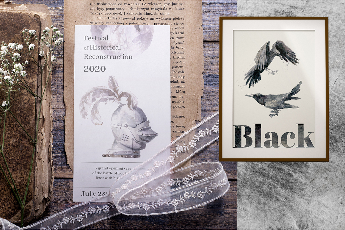 Gloomy fairytale graphic collection. example image 3
