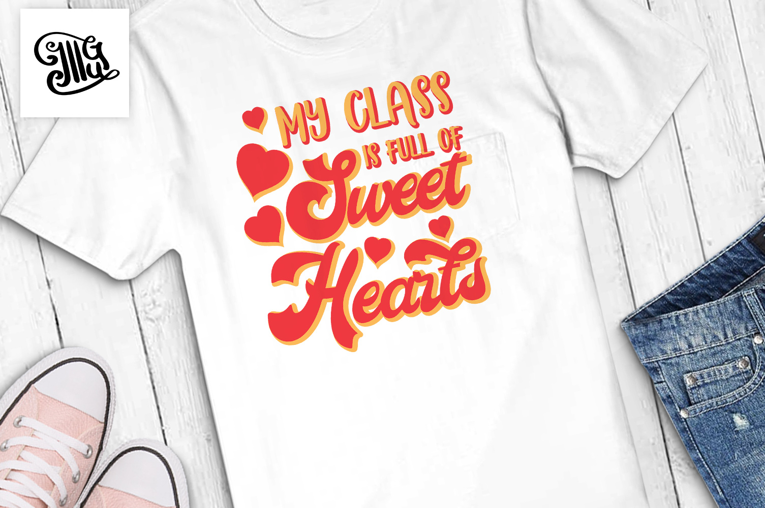 Teacher Valentines day svg My class example image 1