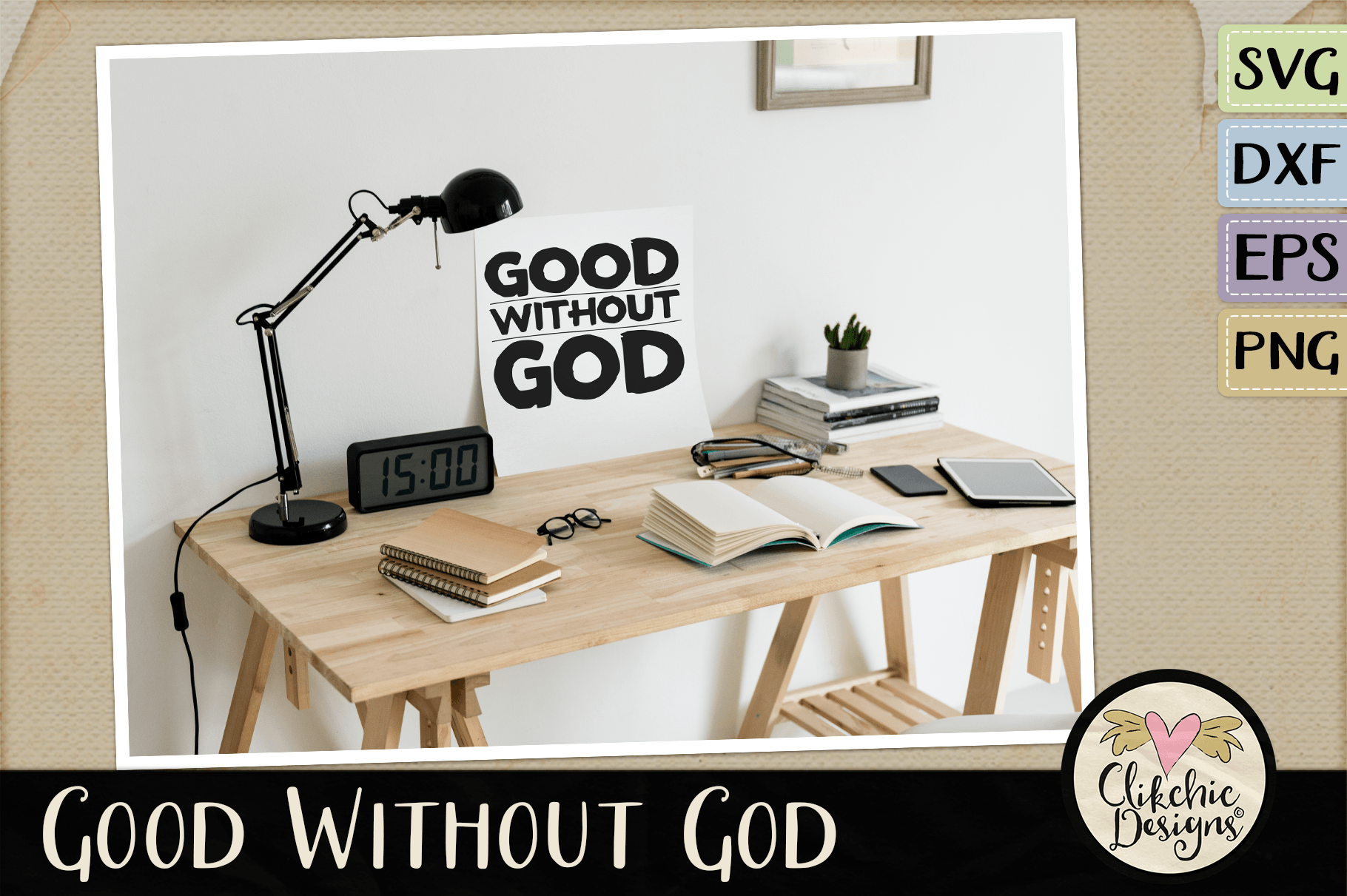 Good Without God SVG & DXF Cutting file example image 2