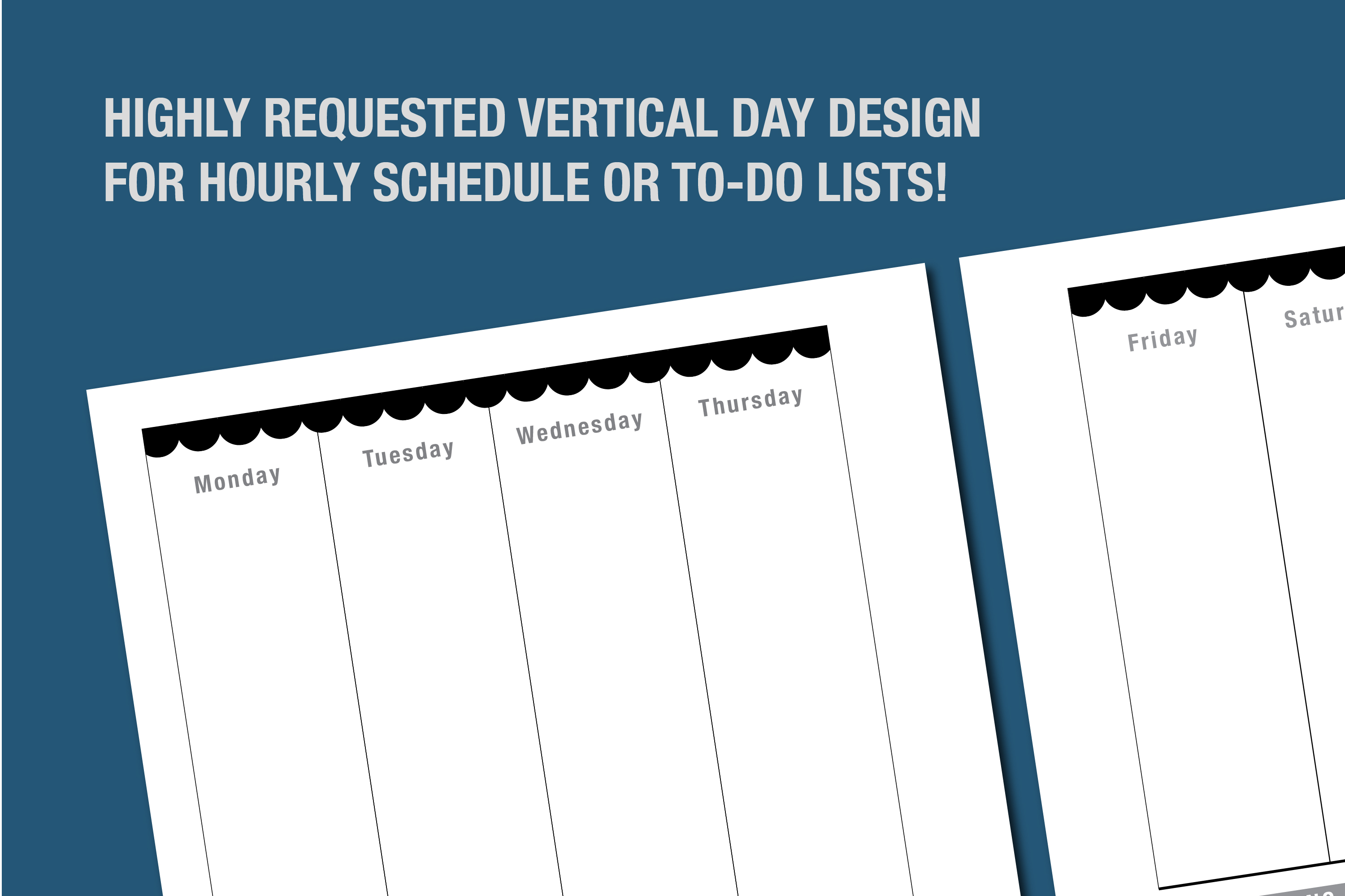 Planner Printable - Vertical Day Column Weekly agenda example image 7