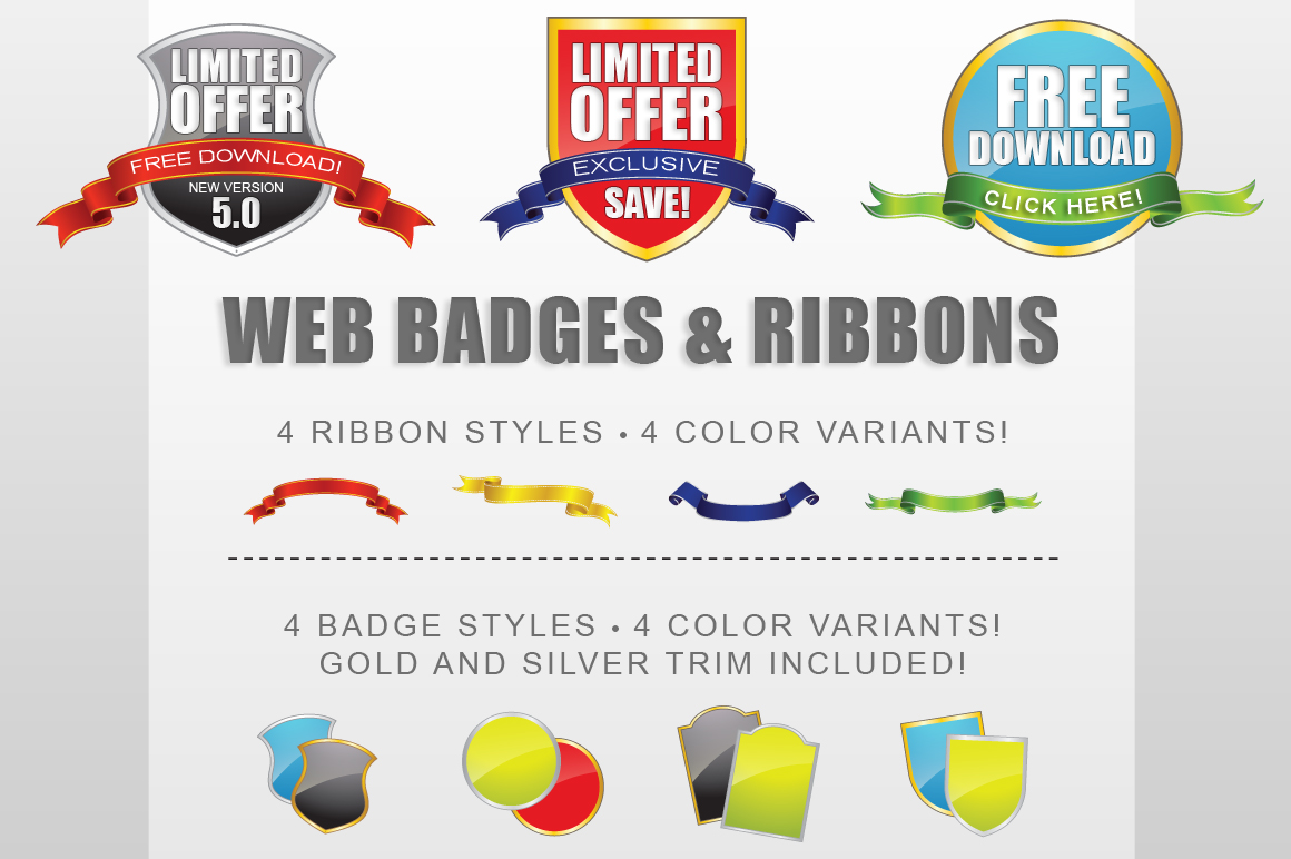 Badge Ribbon Creator Kit example image 1