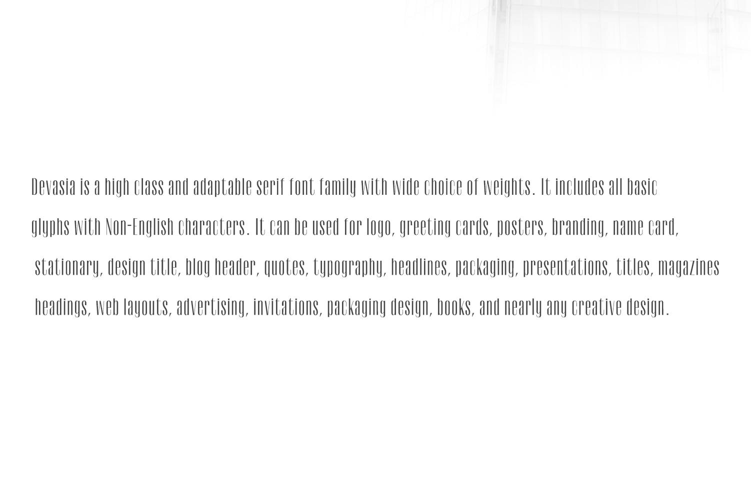 Devasia Sans Serif Font Family Pack example image 7