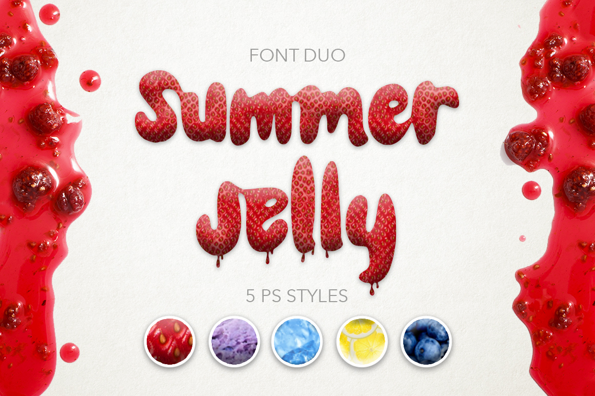 Summer Jelly font duo + PS Styles. example image 1