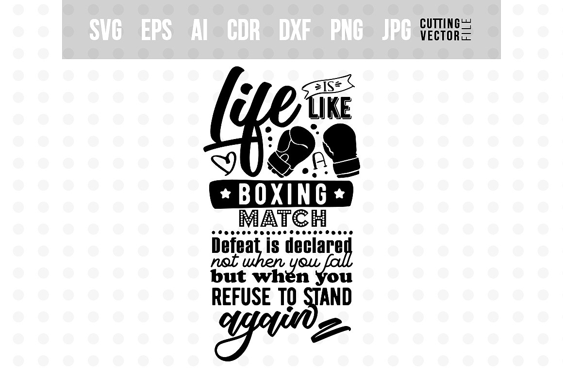 Life is like a Boxing Match - Life Quote example image 2