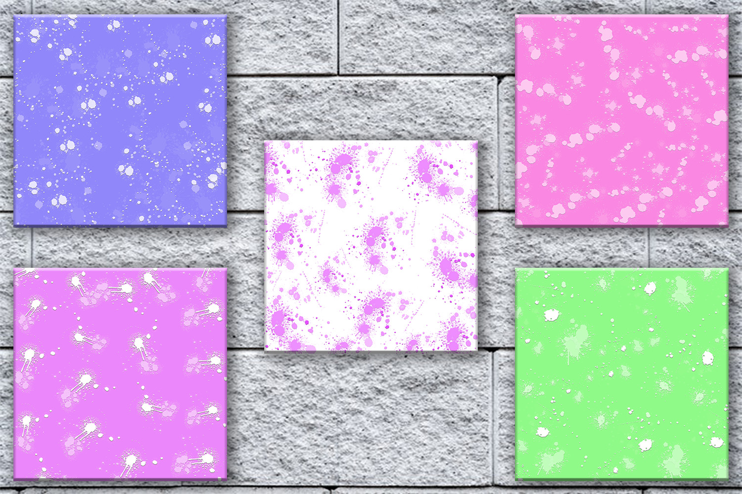 Splatter Digital Paper, Splatter Printable, Splatter, SALE example image 2