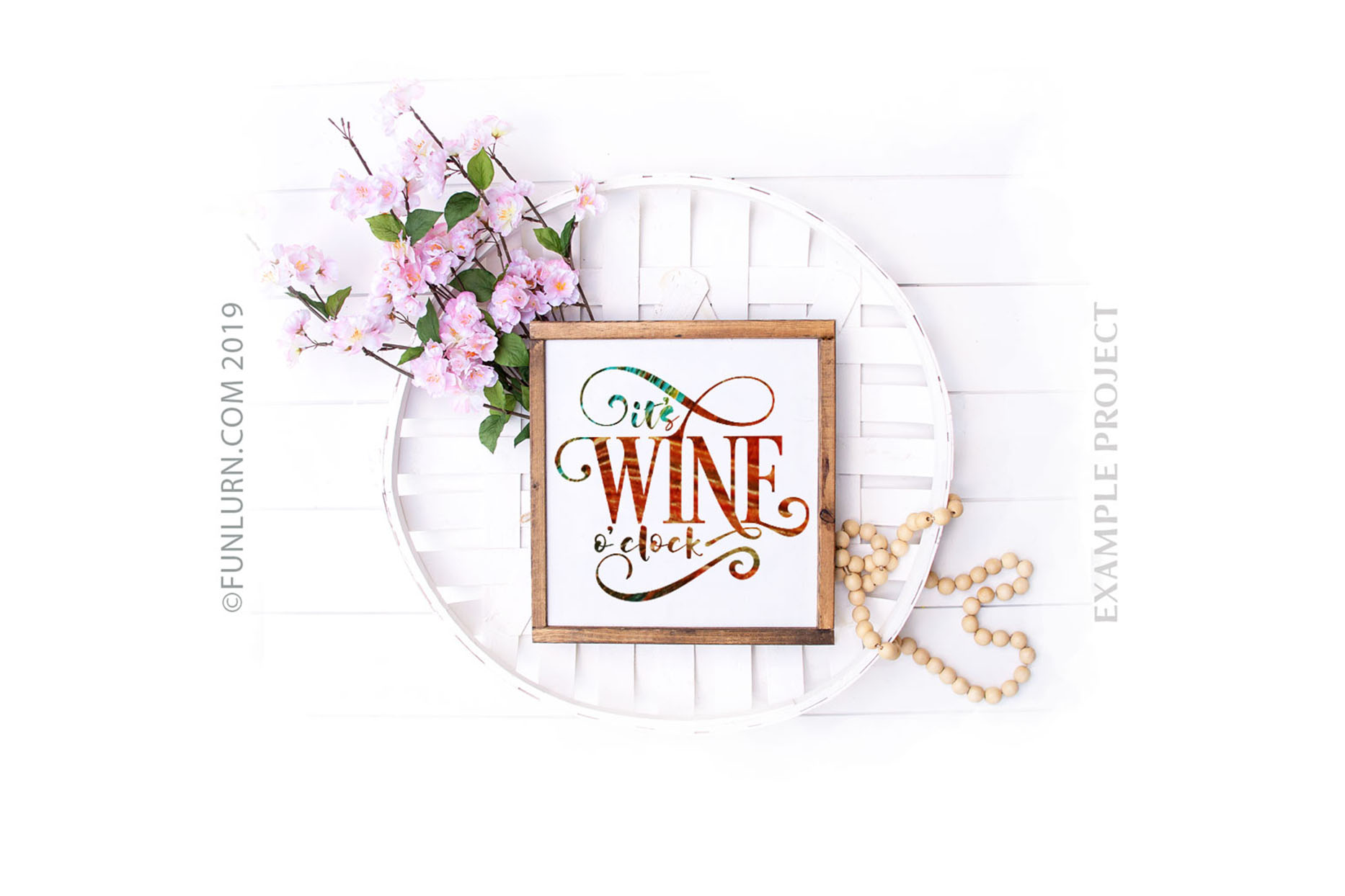 It's Wine O'clock SVG Cut File example image 3