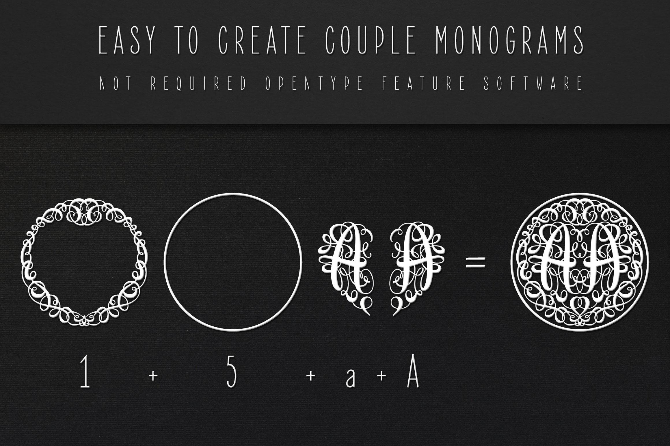Monogram Script | Full Alphabet Single & Couple Monograms example image 8