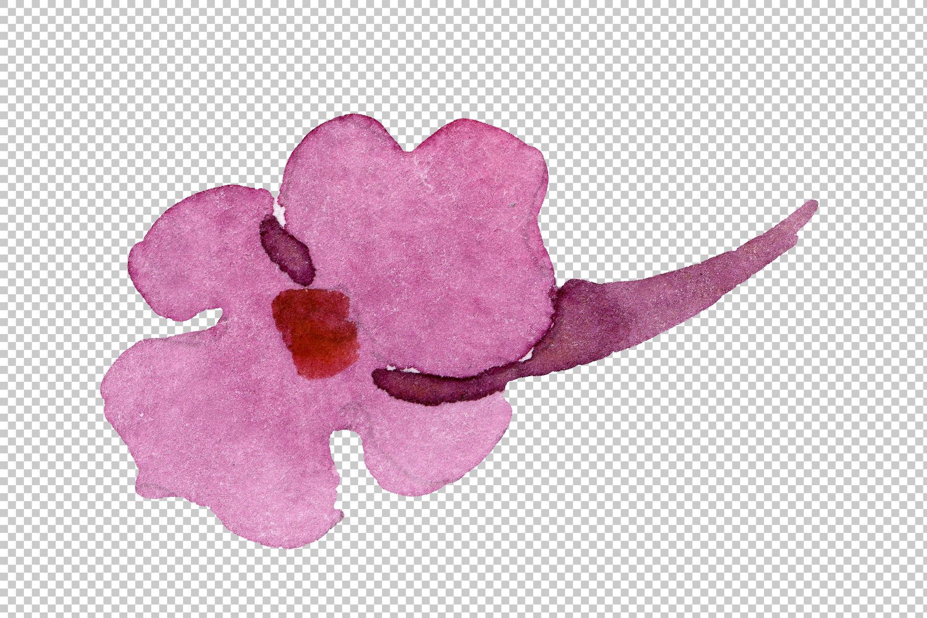Red Lantana Watercolor png example image 10