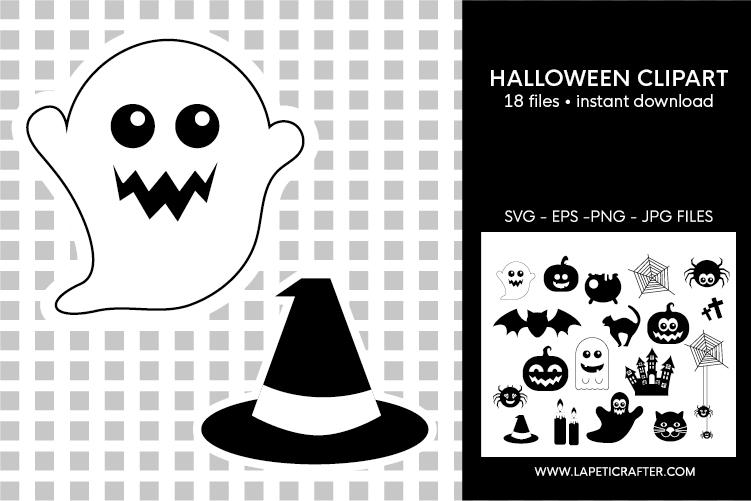 Halloween silhouette, halloween black clipart, digital stick example image 2