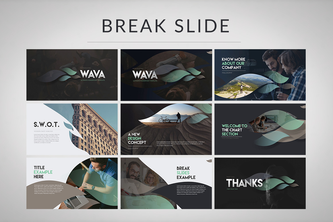 Wava Powerpoint Template example image 2
