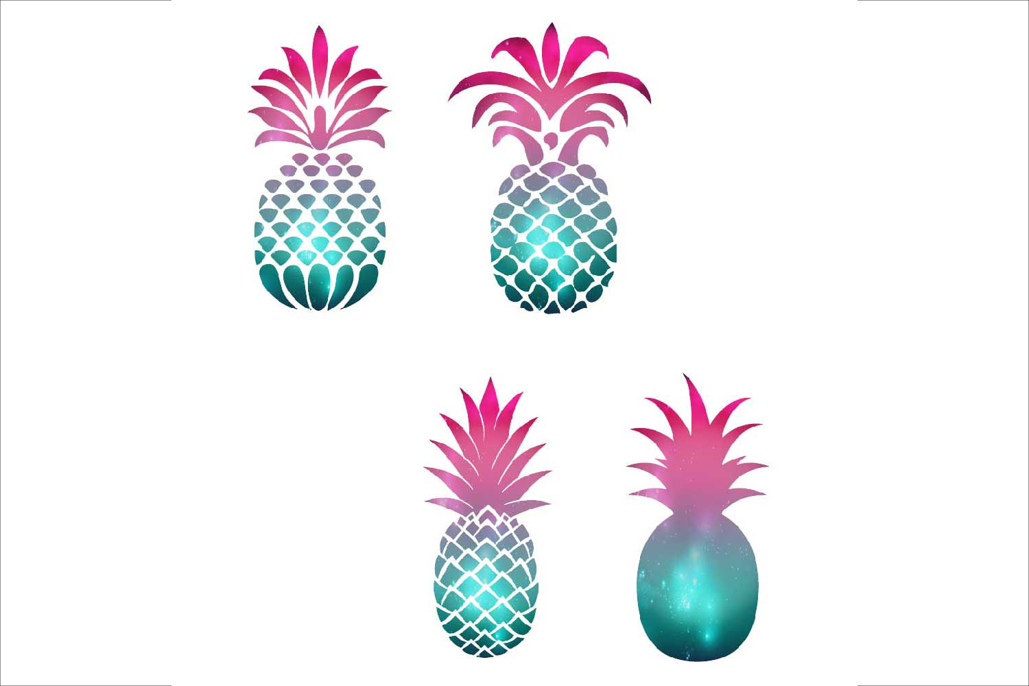 Pineapple Silhouettes Clipart example image 2