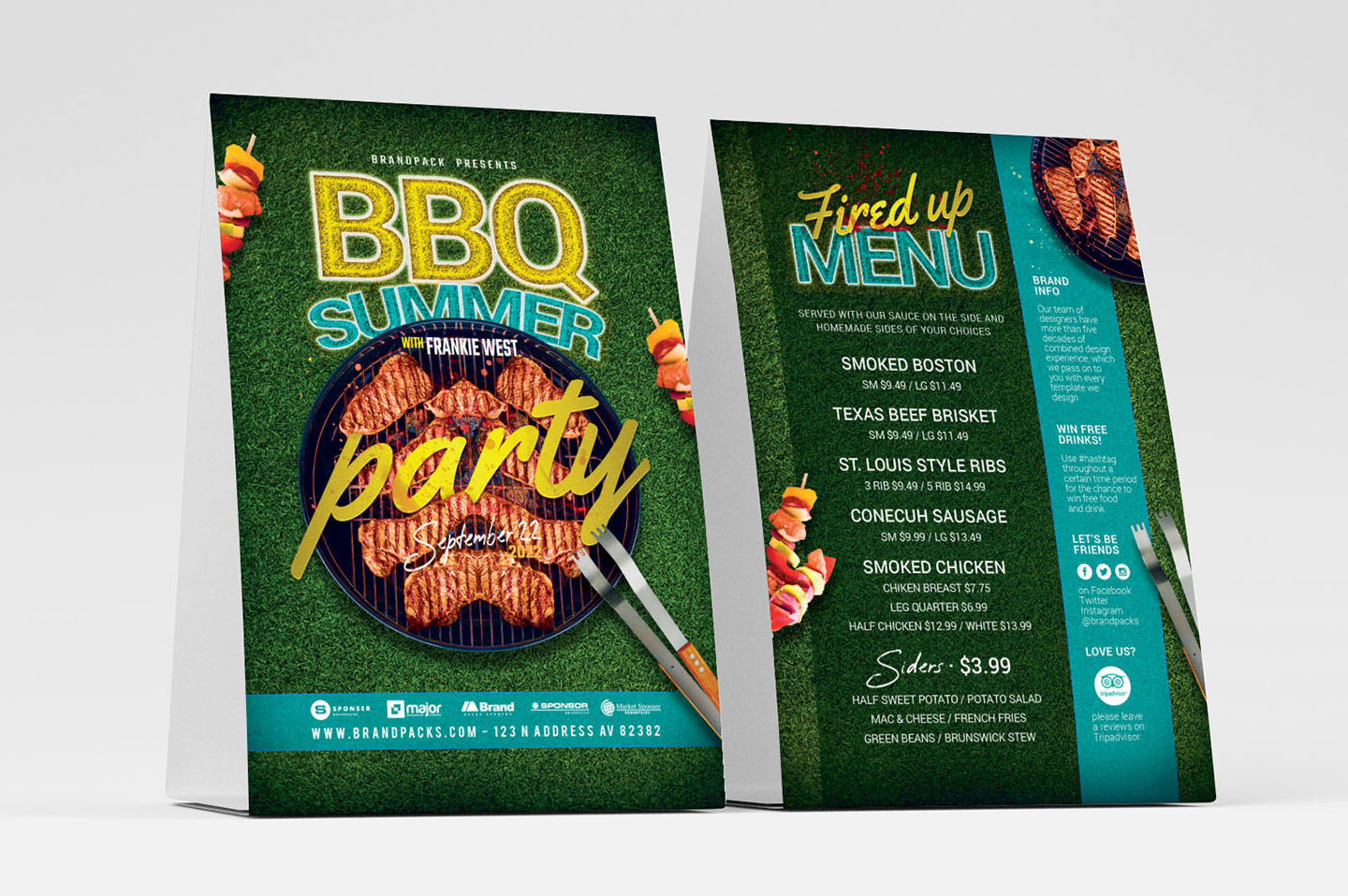BBQ Cookout Flyer Template example image 4