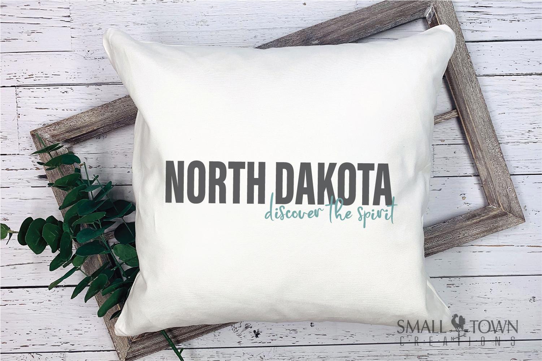 North Dakota, Discover the Spirit, logo, PRINT, CUT & DESIGN example image 5