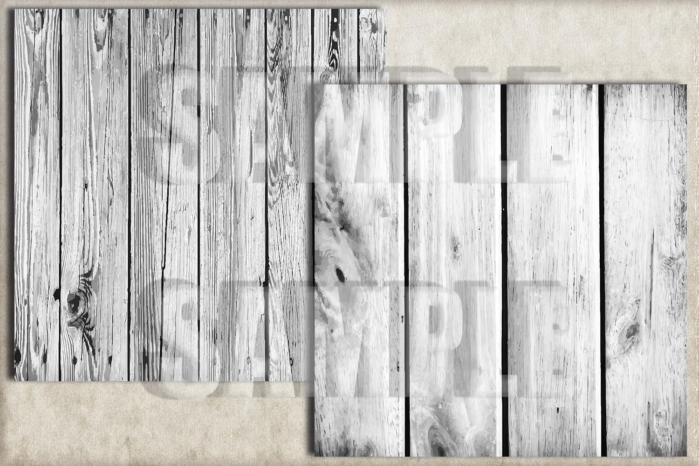 White Rustic Wood Digital Paper, Digital Background example image 2