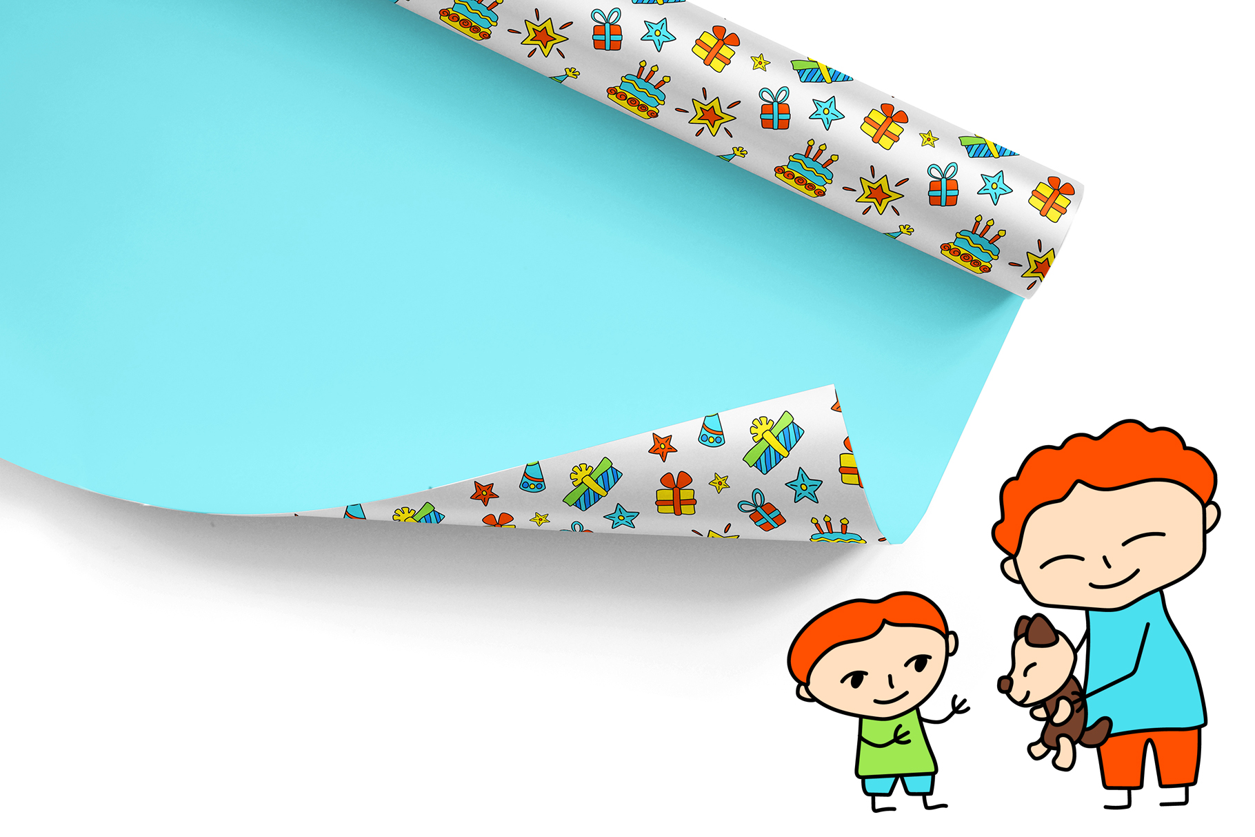 Happy Family Simple Vector Clipart and Patterns example image 4