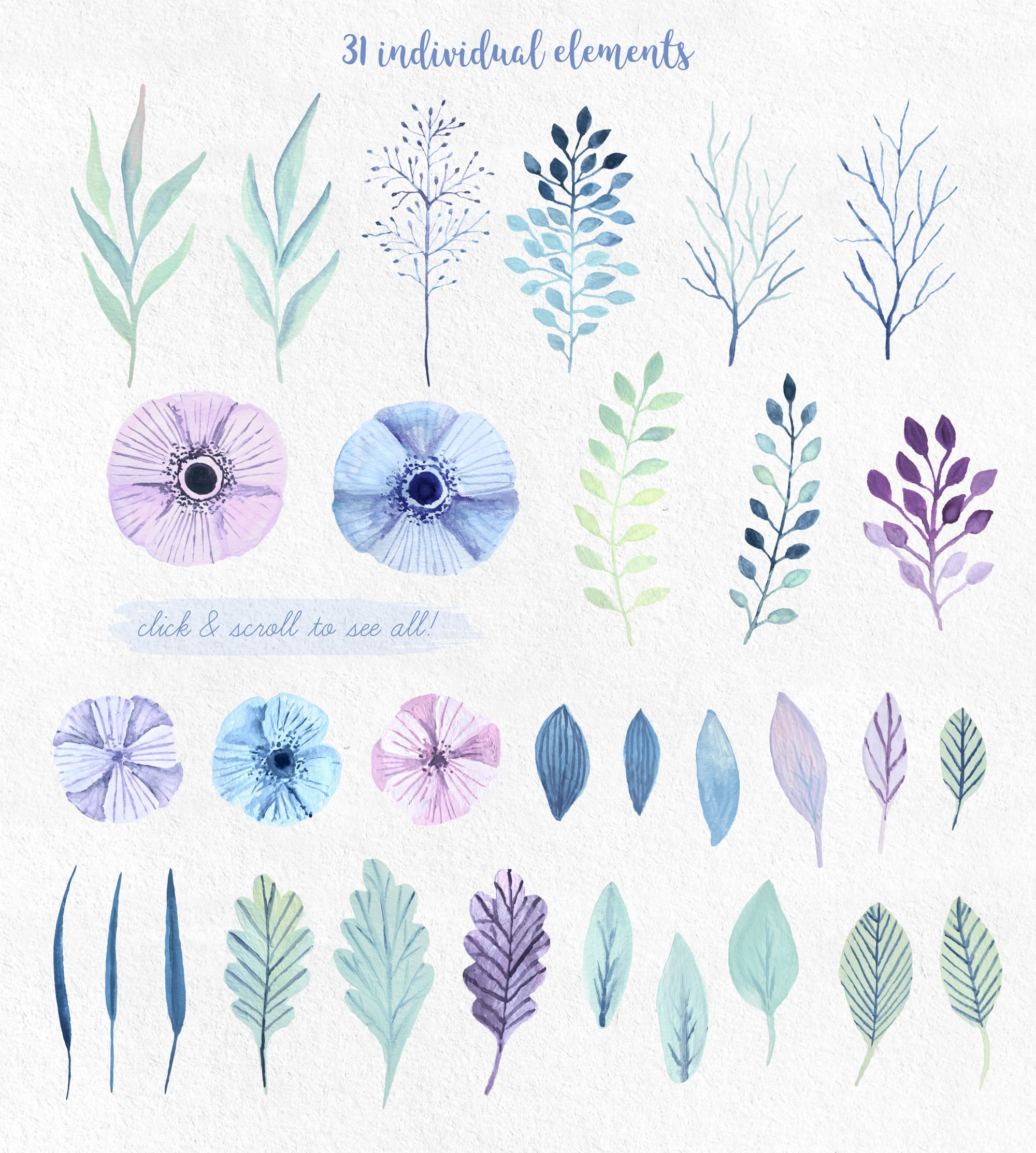 Winterflora floral set example image 2