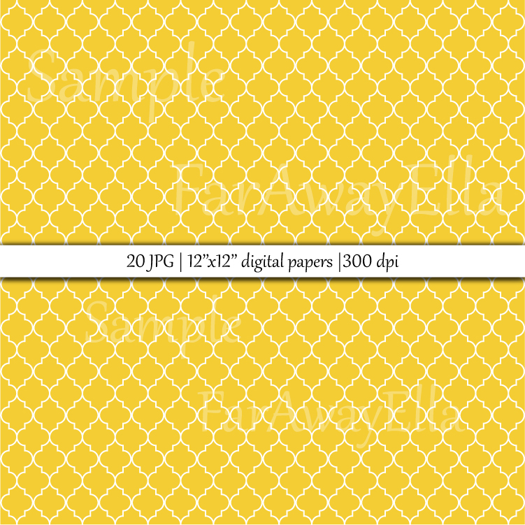 Moroccan trellis digital paper | 20 JPG seamless papers example image 2