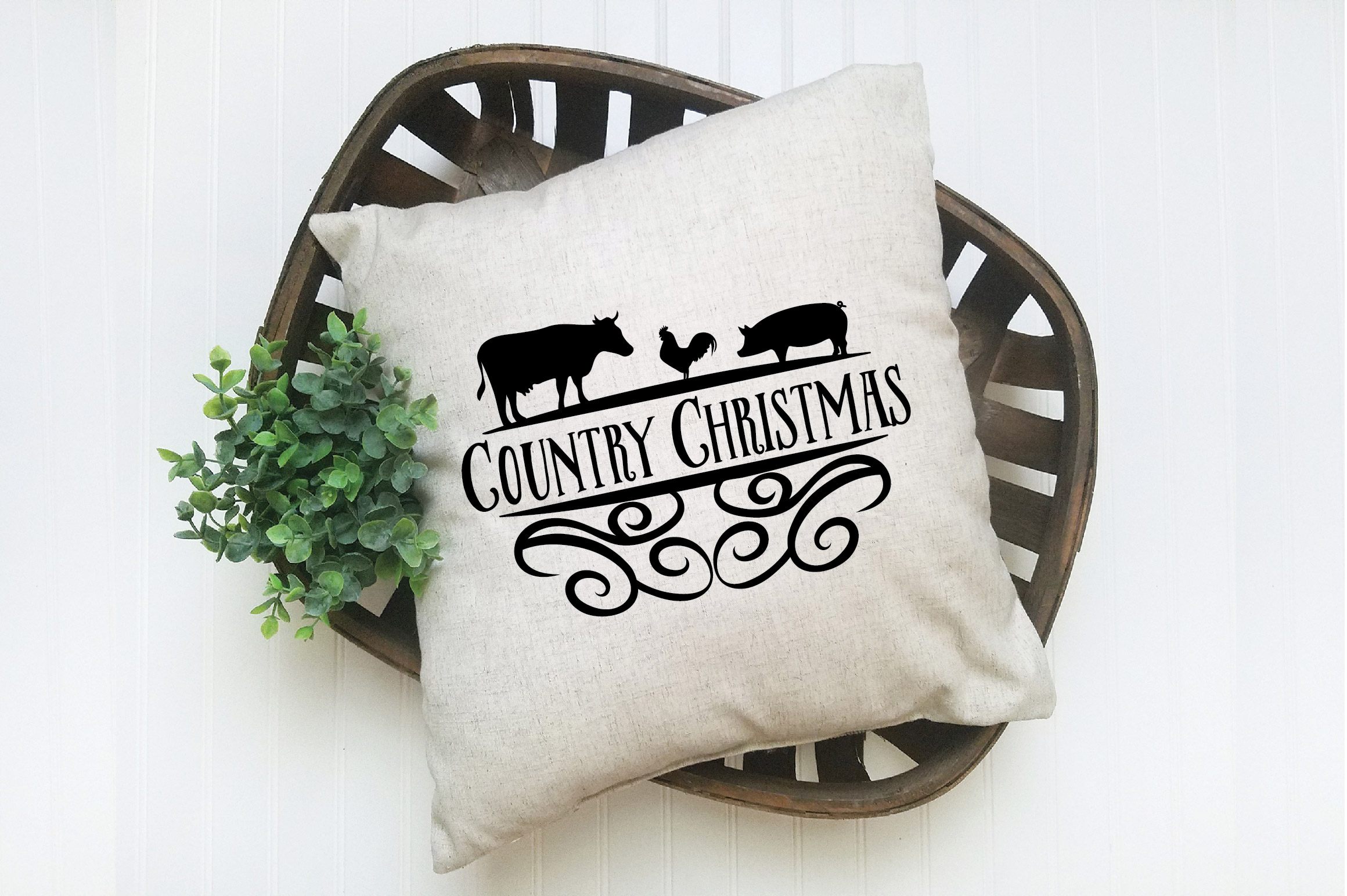 Christmas SVG Cut File - Country Christmas SVG DXF PNG EPS example image 7