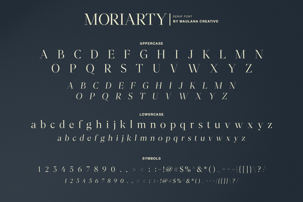 Moriarty Serif Font example image 6