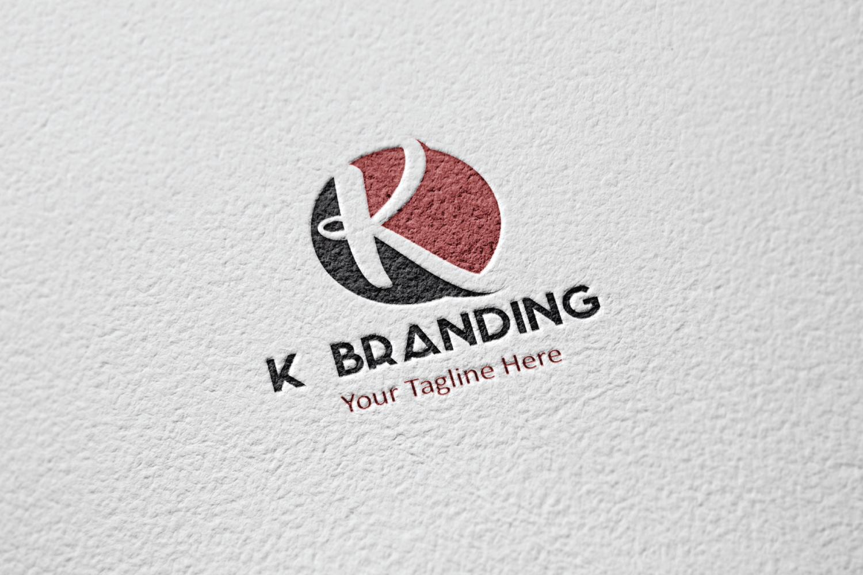 K letter circle logo example image 2